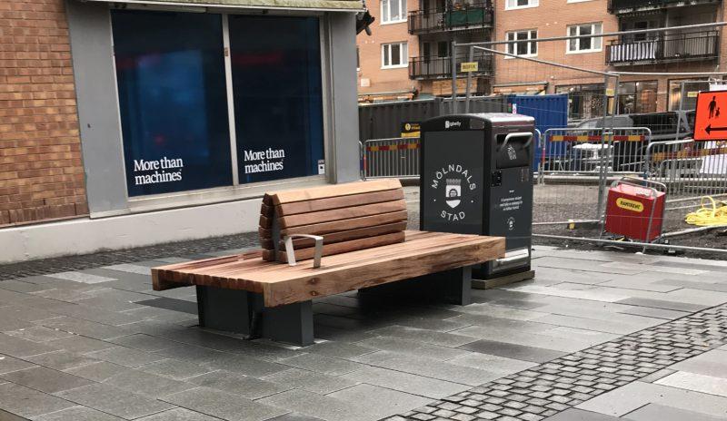 Smartare skräphantering med BigBelly på Brogatan i Mölndal 1