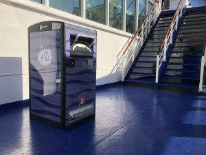 Stena Line testar den solcellsdrivna papperskorgen Bigbelly 2