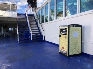 Stena Line testar den solcellsdrivna papperskorgen Bigbelly 1