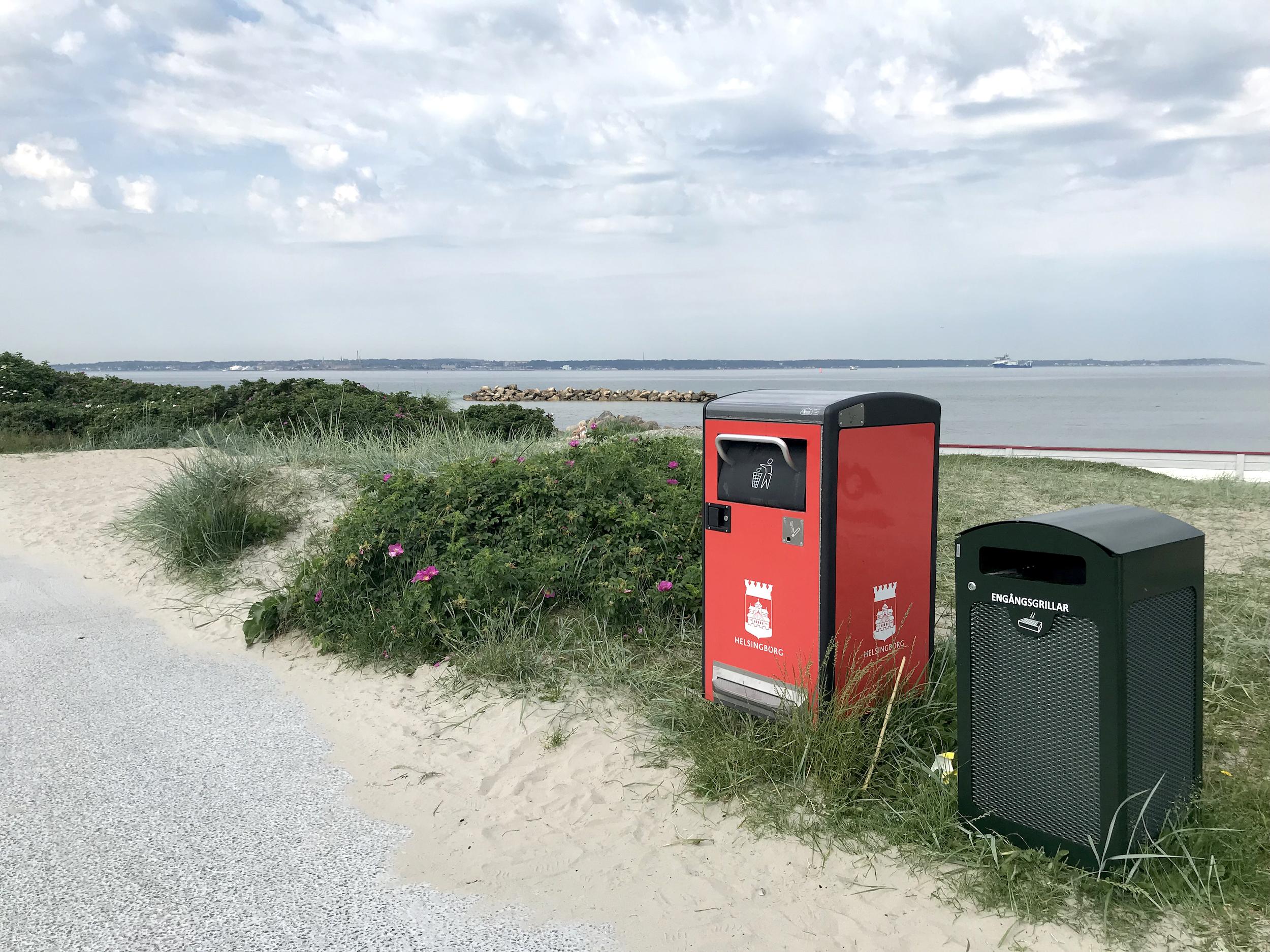 Smart trash cans in Helsingborg