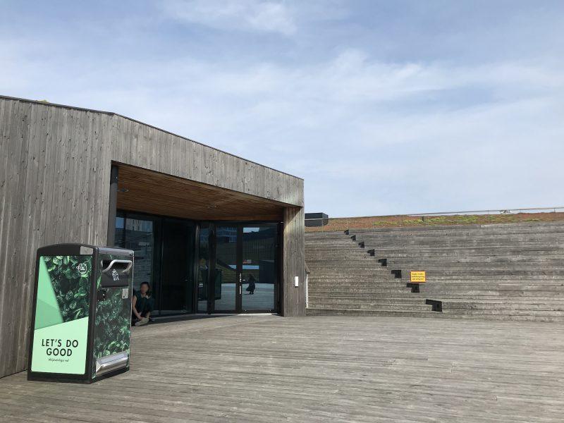 Bigbelly med solen på Emporia Köpcentrum i Malmö 1