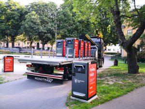 Smarte genbrugs spande i Stockholm