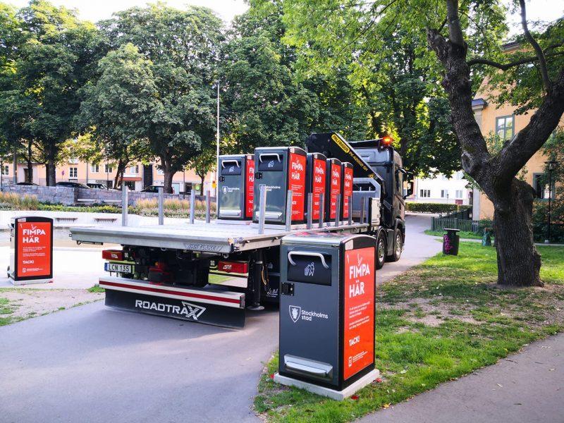 Smarta Papperskorgar i Stockholm