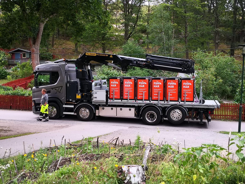 Nya papperskorgar placerade i Stockholm 1