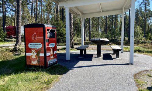 Bigbelly rastplats i Sverige